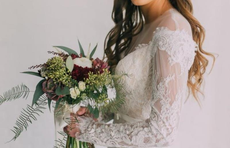 Picture Of modern wedding inspiration with lots of greenery  16