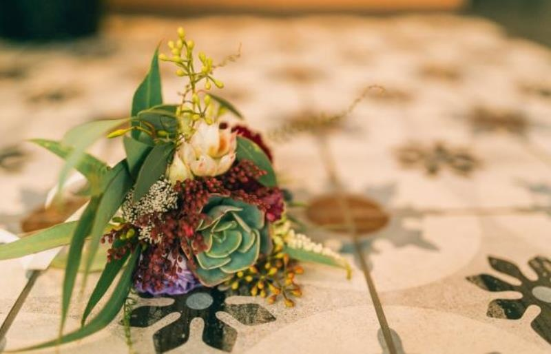Picture Of modern wedding inspiration with lots of greenery  18