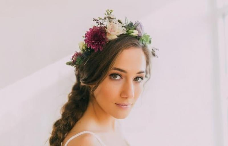 Picture Of modern wedding inspiration with lots of greenery  2