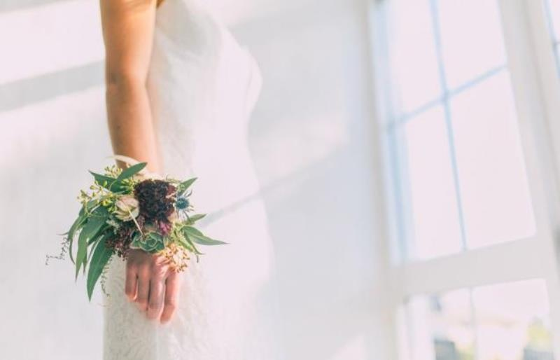 Picture Of modern wedding inspiration with lots of greenery  4