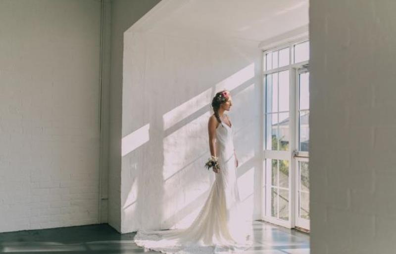 Picture Of modern wedding inspiration with lots of greenery  5
