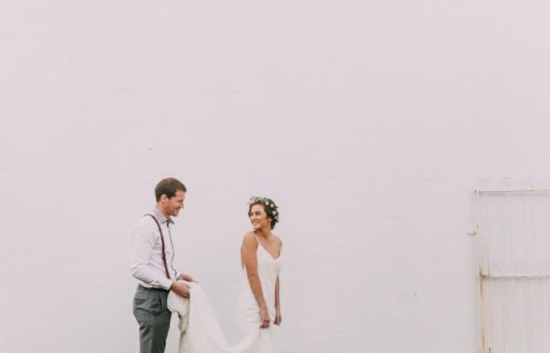 Picture Of modern wedding inspiration with lots of greenery  7