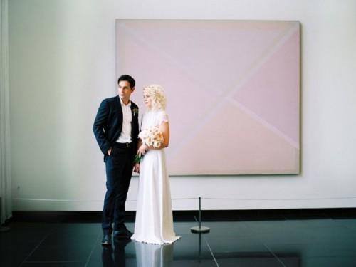 Modern Wedding Shoot At The Georgia Museum Of Art