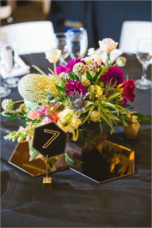 Modern Geometric Wedding With Japanese And Jewish Traditions
