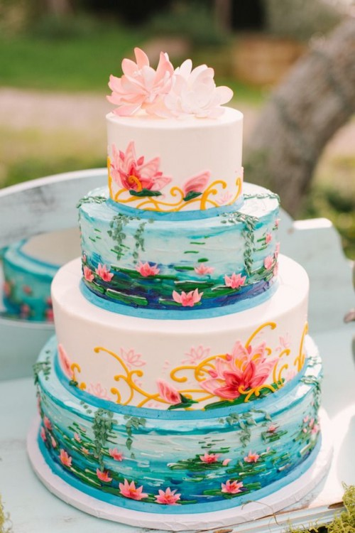Monet Water Lilies Themed Wedding Shoot