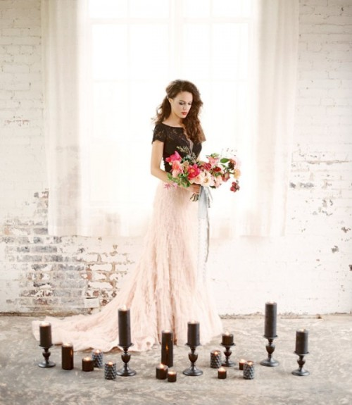 Moody Marsala Wedding Inspiration At Industrial Loft
