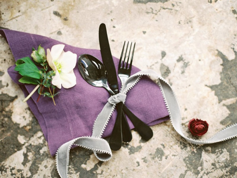 Picture Of moody marsala wedding inspiration at industrial loft  16
