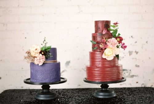 Moody Marsala Wedding Inspiration At Industrial Loft