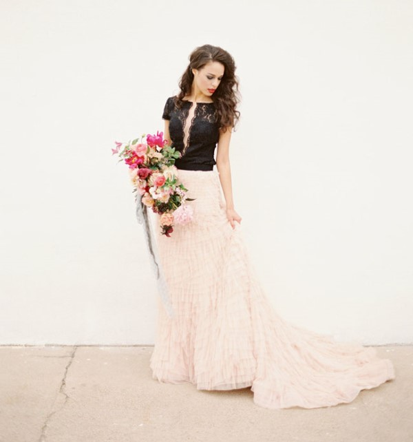 Picture Of moody marsala wedding inspiration at industrial loft  6