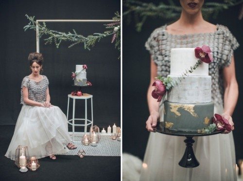 Moody Modern Art Deco Fall Wedding Inspiration