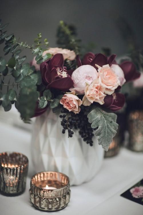 Moody Modern Art Deco Fall Wedding Inspiration