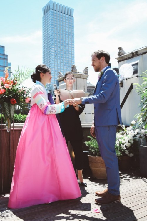 Multicultural Vegan Wedding On A NYC Rooftop