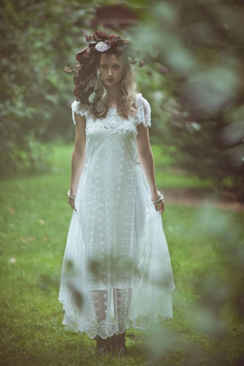 mysterious voodoo and pagan witch wedding shoot