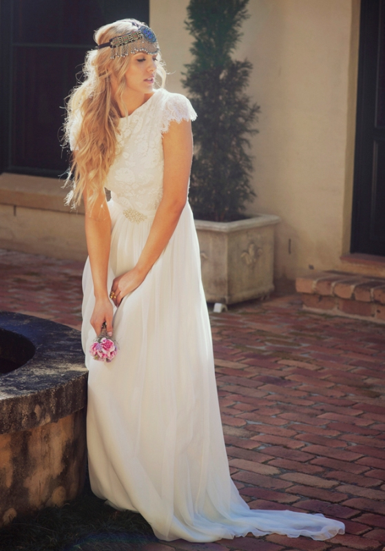 a03a8b98851 Naturally Beautiful Boho Wedding Dresses By Grace Loves Lace ...