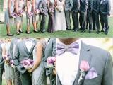 Navy And Purple Gatsby Inspired Wedding