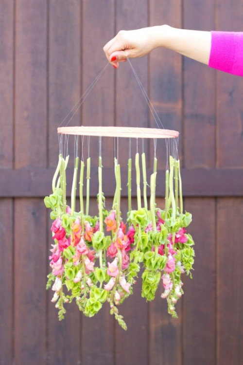 Nice Diy Hanging Flower Chandelier For Your Wedding Decor