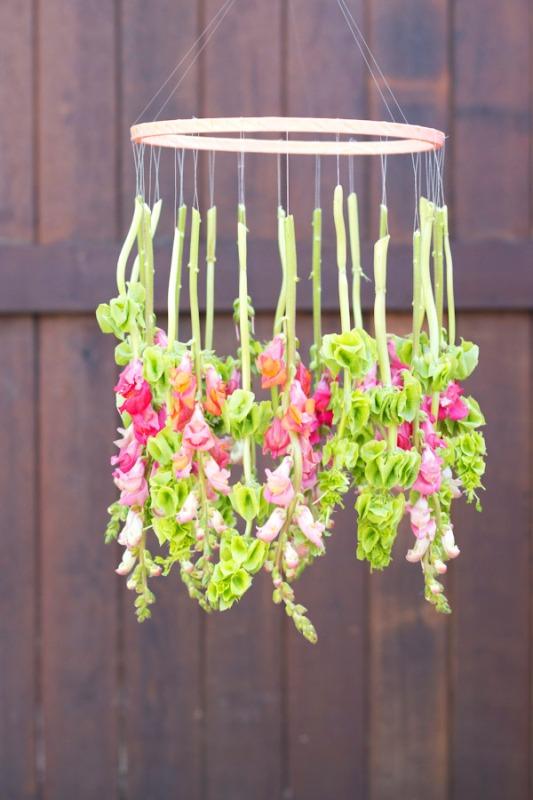 Nice Diy Hanging Flower Chandelier For Your Wedding Decor