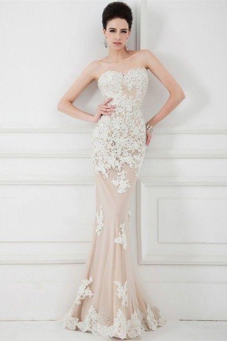 The Key Bridal Trend 2015: 22 Nude Lace Wedding Gowns - Weddingomania