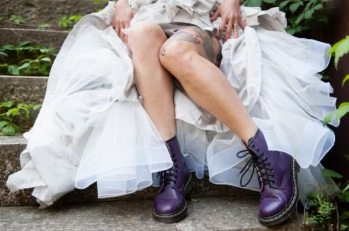 Offbeat Modern Tattooed Bridal Shoot