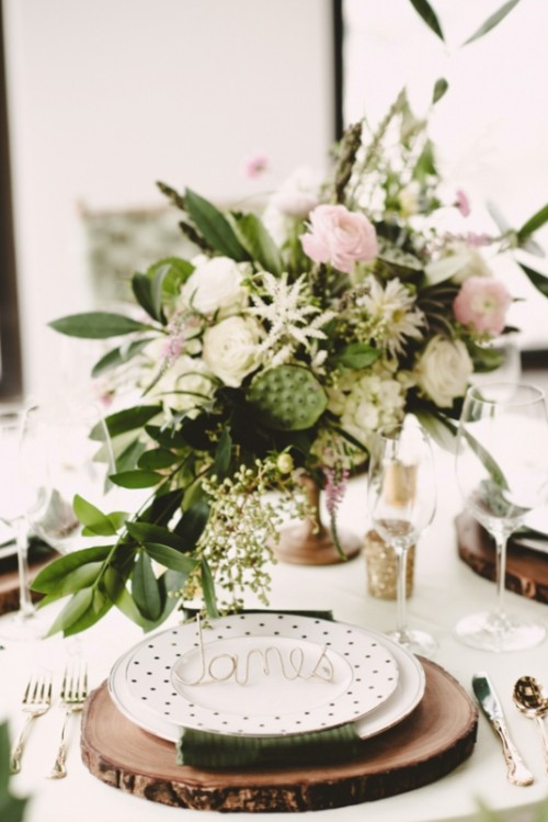 Olive Green And Gold Glam Wedding Inspiration With Rustic