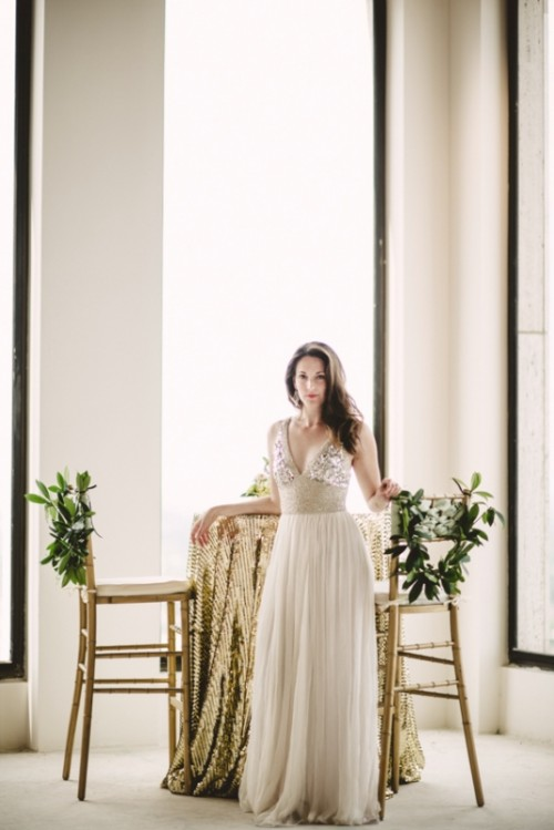 Olive Green And Gold Glam Wedding Inspiration With Rustic Touches