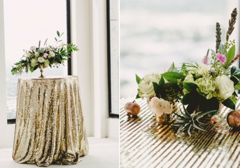 Picture Of Olive Green And Gold Glam Wedding Inspiration