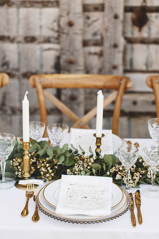 Picture Of organic grecian wedding inspiration with golden touches  12