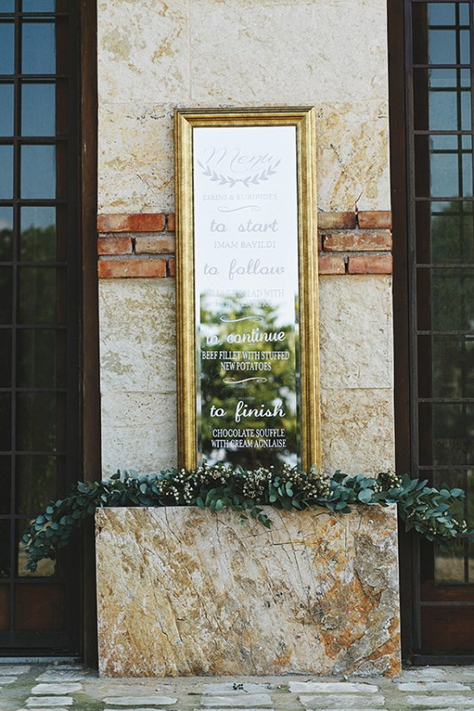 Picture Of organic grecian wedding inspiration with golden touches  13