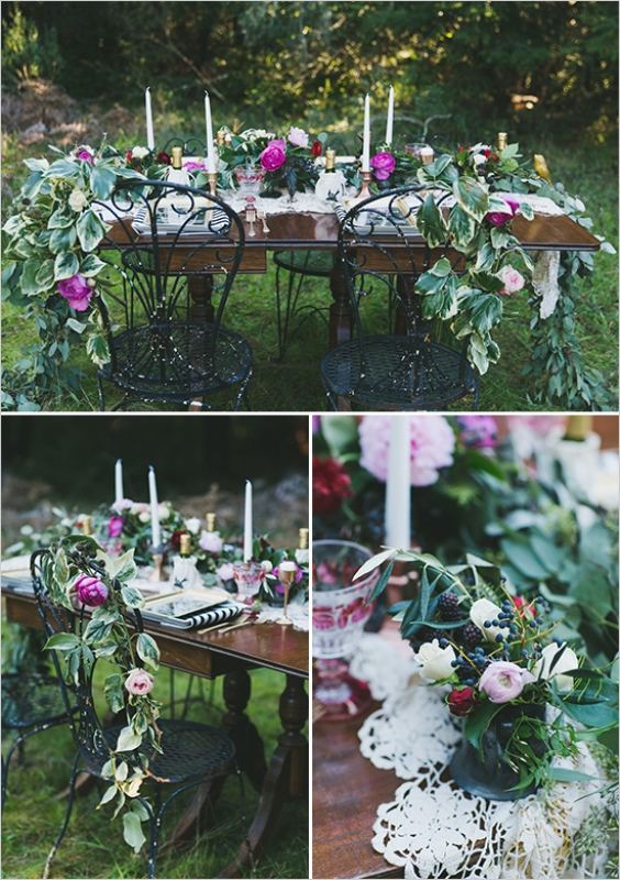 Picture Of organic inspired and free spirited summer garden wedding  10