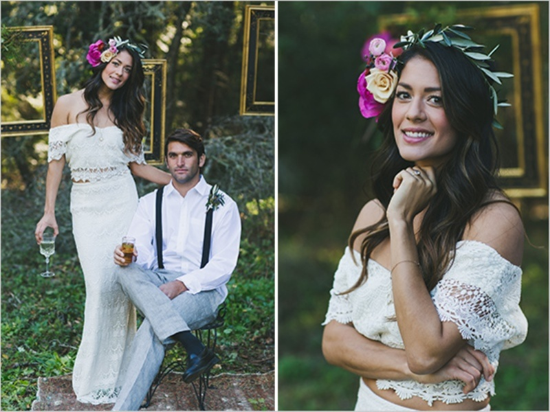 Picture Of organic inspired and free spirited summer garden wedding  4