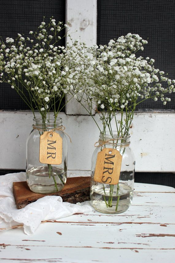 Picture Of Original Barn Wedding Centerpieces