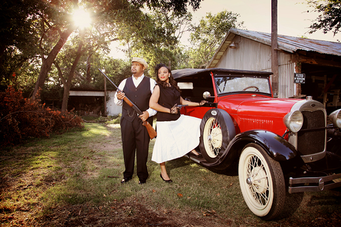 Original Bonnie And Clyde Engagement Session