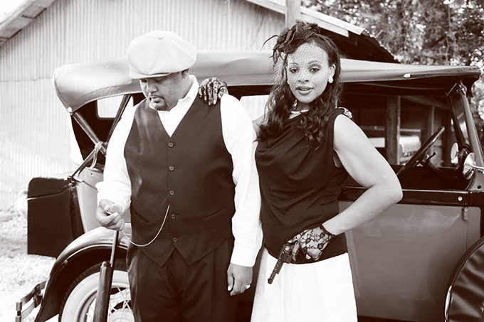 Picture Of Original Bonnie And Clyde Engagement Session