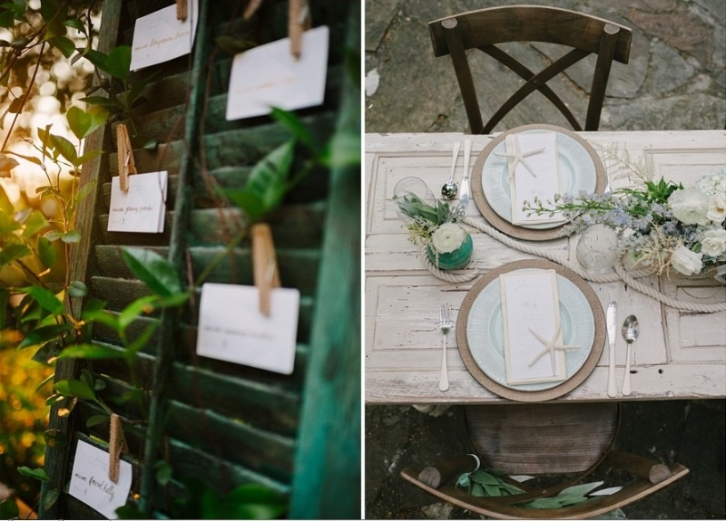 Picture Of Pale Blue Coastal Chic Wedding Inspiration 14