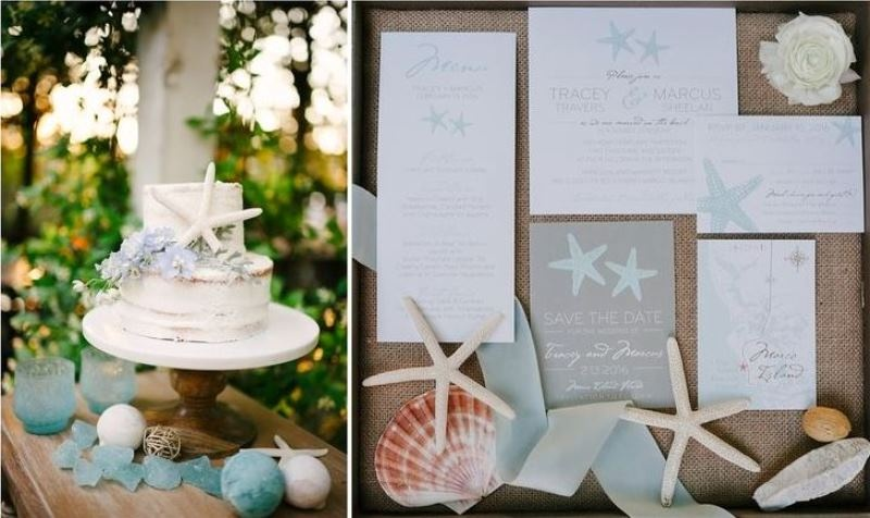 Picture Of Pale Blue Coastal Chic Wedding Inspiration 6