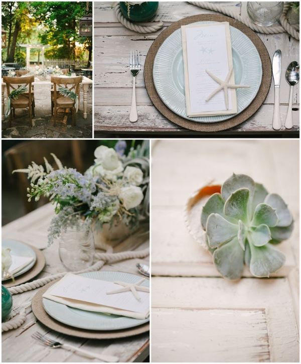 Picture Of Pale Blue Coastal Chic Wedding Inspiration 8