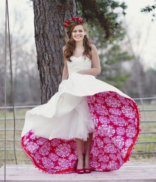 Patterned Wedding Dresses