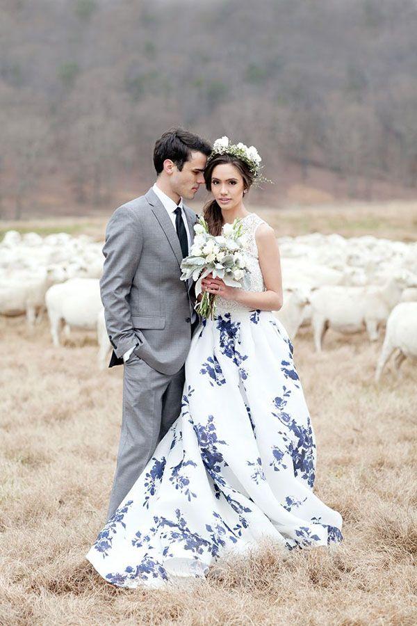 Patterned Wedding Dresses