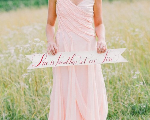 Peach Farm Wedding Shoot With Fall Touches