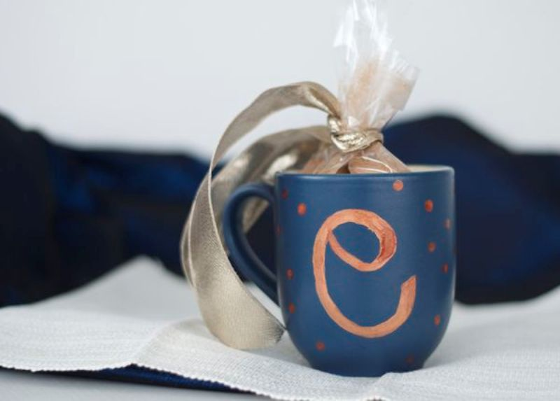 Picture Of perfect for winter wedding diy mug hot cocoa favors  5