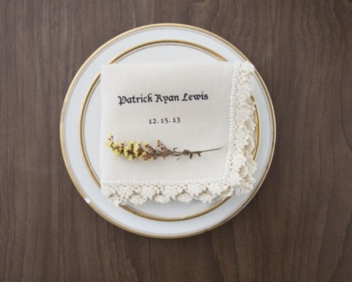 Personalized DIY Vintage Napkins For Your Wedding Table