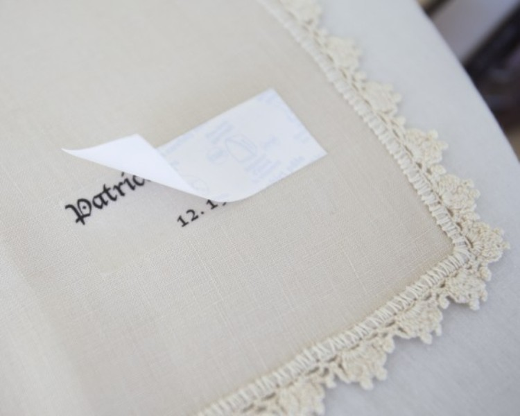 Picture Of Personalized Diy Vintage Napkins For Your Wedding Table