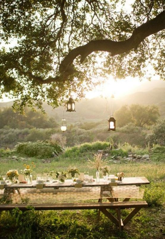 Picture Of picnic themed rehearsal dinner 19 cozy reception ideas  15