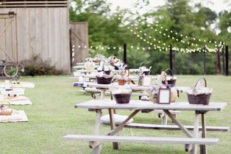 Picture Of picnic themed rehearsal dinner 19 cozy reception ideas  2