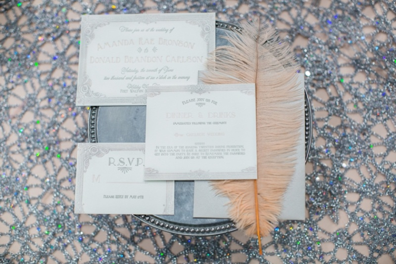Picture Of pink and silver glamorous great gatsby wedding inspiration on the beach  14