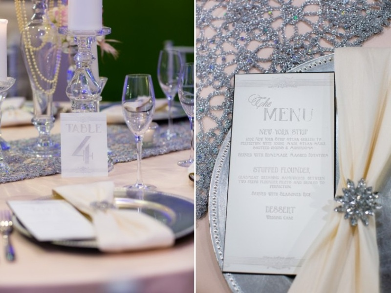Picture Of pink and silver glamorous great gatsby wedding inspiration on the beach  15
