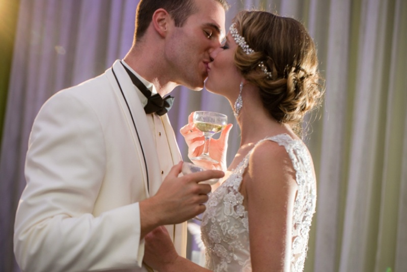 Picture Of pink and silver glamorous great gatsby wedding inspiration on the beach  25