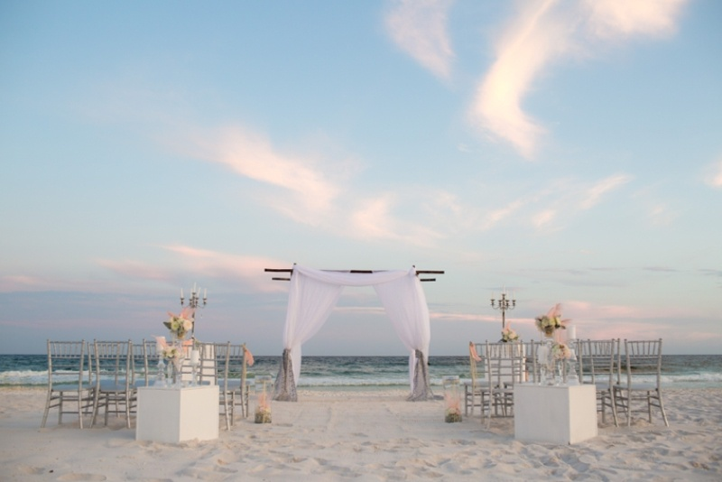 Picture Of pink and silver glamorous great gatsby wedding inspiration on the beach  6