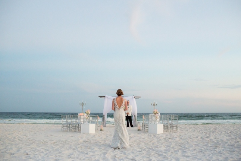 Picture Of pink and silver glamorous great gatsby wedding inspiration on the beach  9
