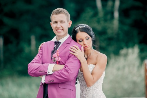 Pink And Turquoise Russian Outdoor Wedding